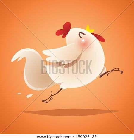 Rooster design. Chinese New Year.