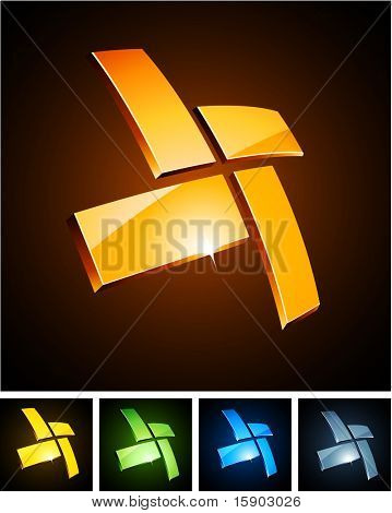 Vector illustration of star shiny symbols.