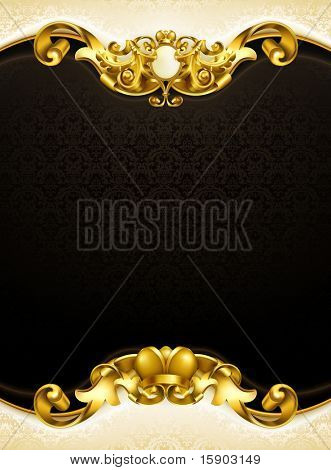 Vintage background black vertical, 10eps