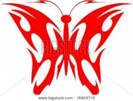 A vector illustration of a Flaming Butterfly in Tribal Style. Great for all kind of designs including vehicle grapics. The image is VERY CLEAN and ready to cut.