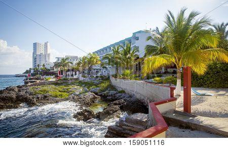 Coast of Cozumel island in Quintana Roo, Mexico