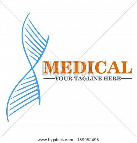 Medical logo design, vector template eps 10