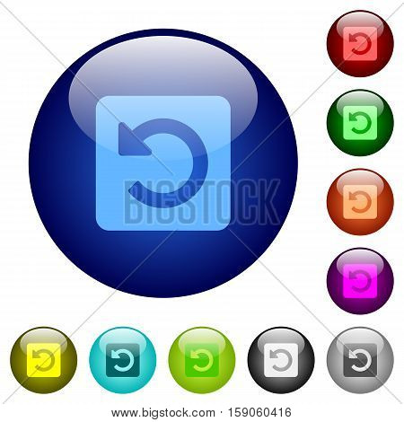 Rotate left icons on round color glass buttons