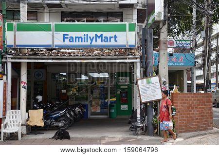 Family Mart Twenty Four Hour Convenience Store Located In Pattaya, Thailand