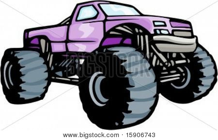 4x4 monster truck. Check my portfolio for many more images of this series.