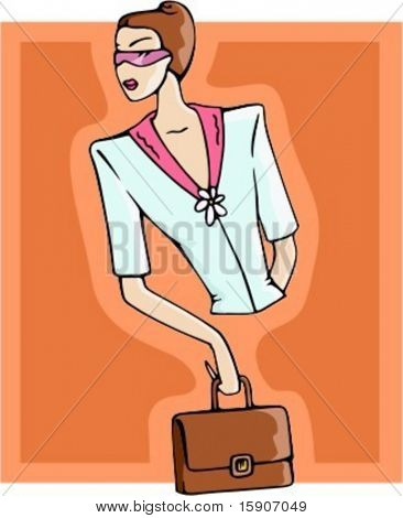 Businesswoman with a handbag. Check my portfolio for many more images of this series.