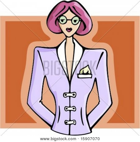 Businesswoman with glasses. Check my portfolio for many more images of this series.