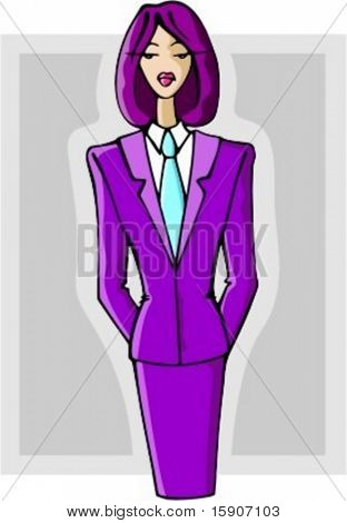 Elegant businesswoman. Check my portfolio for many more images of this series.