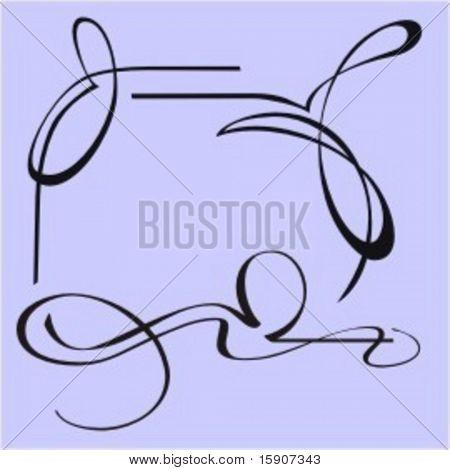 Exquisite Design Elements 1 (Vector) Very clean and exquisite design elements of ornamental type.  Very clean vectors!