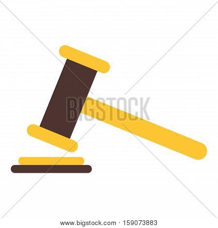Judge gavel icon. Flat illustration of judge gavel vector icon for web design