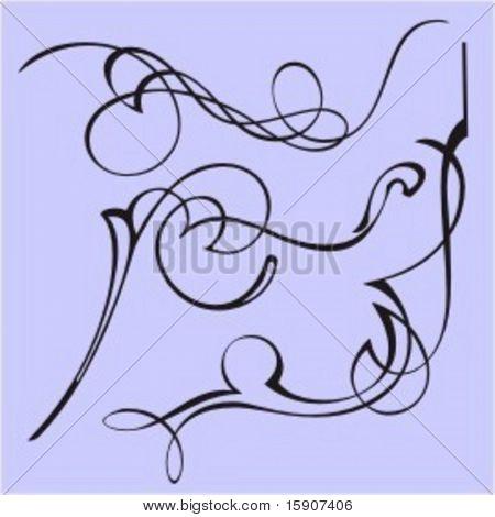 Exquisite Design Elements 29 (Vector) Very clean and exquisite design elements of ornamental type.  Very clean vectors!