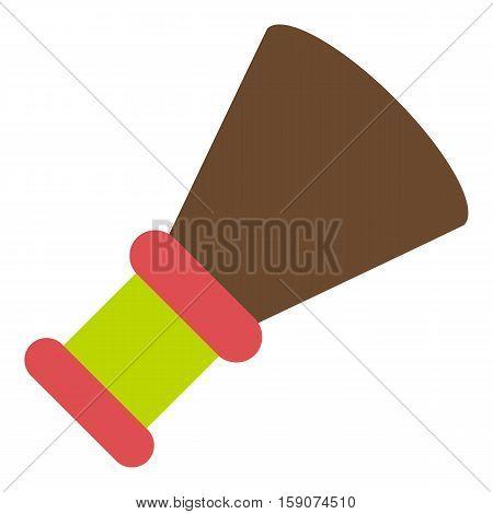 Shaving brush icon. Flat illustration of shaving brush vector icon for web design