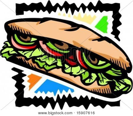 A vector illustration of a sandwich.