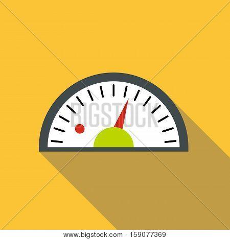 Speedometer icon. Flat illustration of speedometer vector icon for web design