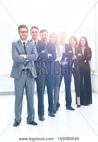 Business team in modern office