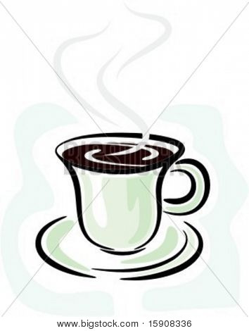 Hot coffee/cacao drink.Vector illustration