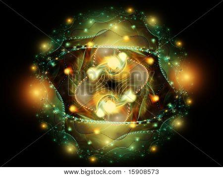 Abstract Deep-sea Fractal Wallpaper