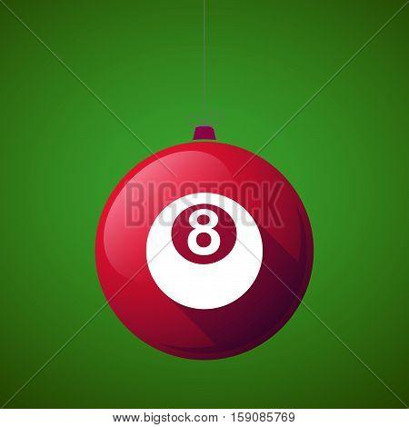Long Shadow Christmas Ball With  A Pool Ball