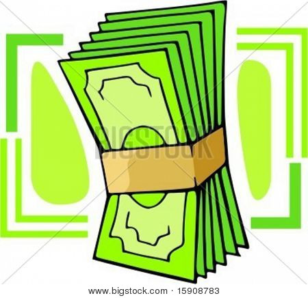 Money wad.Vector illustration