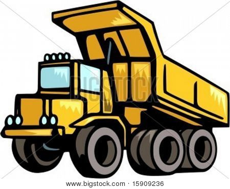 Construction and mining truck.Vector illustration