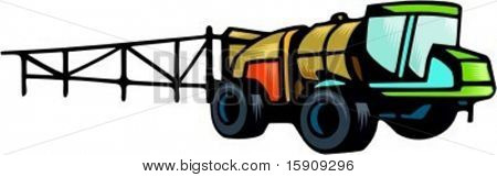 Agriculture truck with finisher.Vector illustration