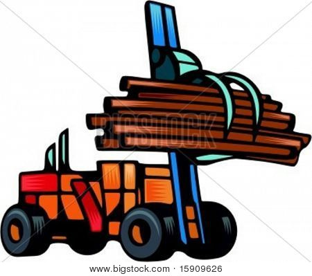 Forestry lift.Vector illustration