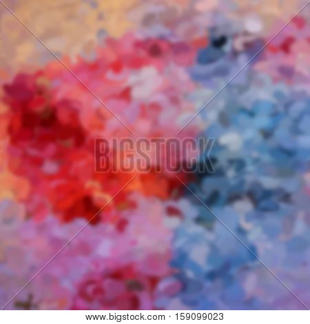 blurred abstract background of colored spots red pink