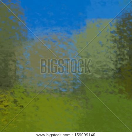 blurred abstract background of colored spots blue green