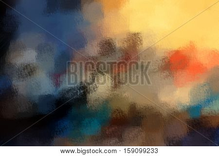 blurred abstract background of colored spots orange brown