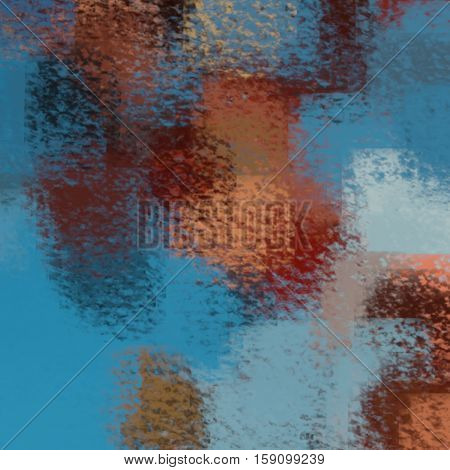 blurred abstract background of colored spots blue red