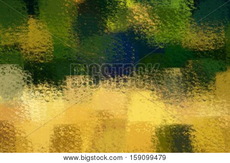 blurred abstract background of colored spots yellow green