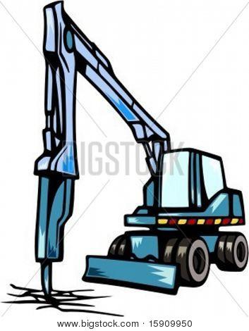 Demolition equipment.Vector illustration