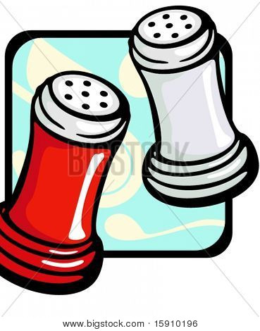 Salt grinder.Vector illustration