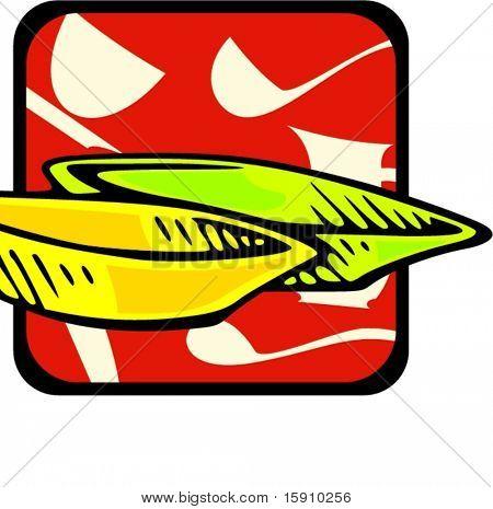 Salad plates.Vector illustration