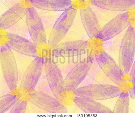 Watercolor background. Abstract colorful watercolor background with purple flowers