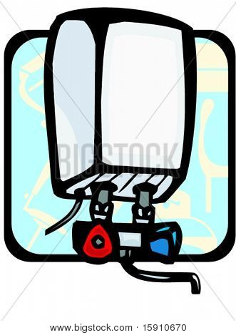Water heater.Pantone colors.Vector illustration