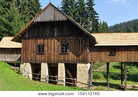 Old saw mill, open-air Museum of Kysuce village, Vychylovka, Slovakia