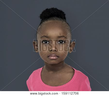 Black little Girl Portrait Concept
