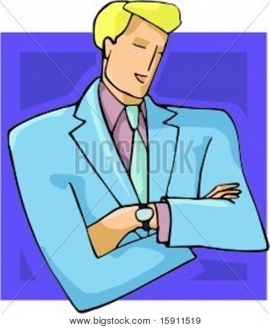 Uma ilustração do vetor de um empresário.