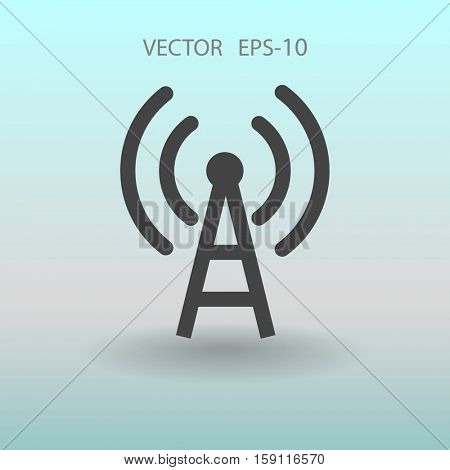 Flat icon of wifi. vector illustration