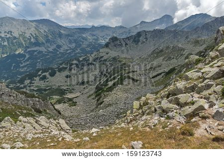 Amazing Panorama from Banderitsa pass to Banderishki Chukar peak,  Pirin Mountain, Bulgaria