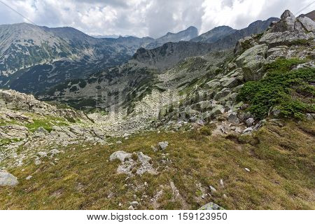 Amazing Landscape from Banderitsa pass to Banderishki Chukar peak,  Pirin Mountain, Bulgaria