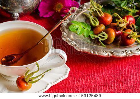 Rosehip Tea. Medicinal Plants.