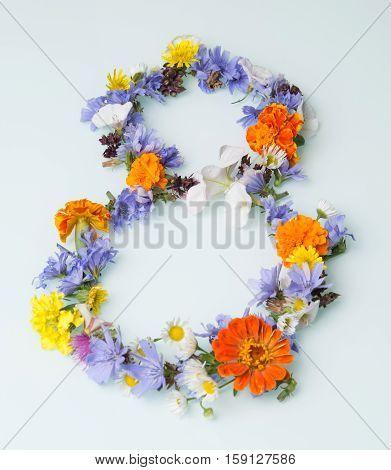 international women's day on the many flower