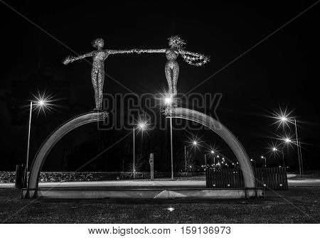 Journeys End statue situated in Clackmannanshire Scotland