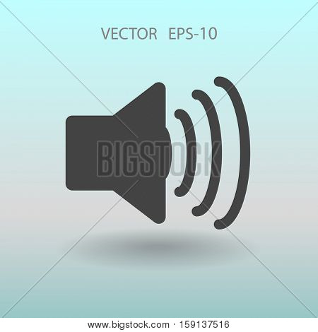 Flat icon of speaker. vector illustration