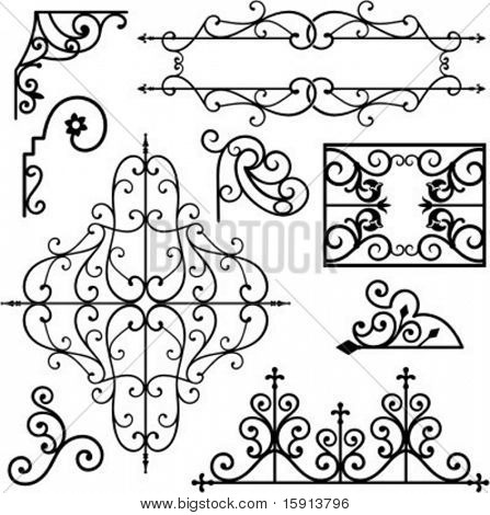 A set of 8 exquisitive and very clean ornamental designs.