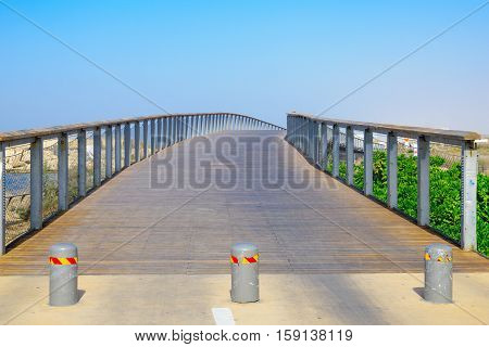A Foot Bridge, Part Of The Beach Promenade, In Tel-aviv