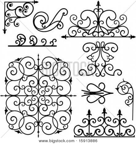 A set of 9 exquisitive and very clean ornamental designs.