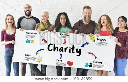 Charity Donations Help Support Giving Community Concept
